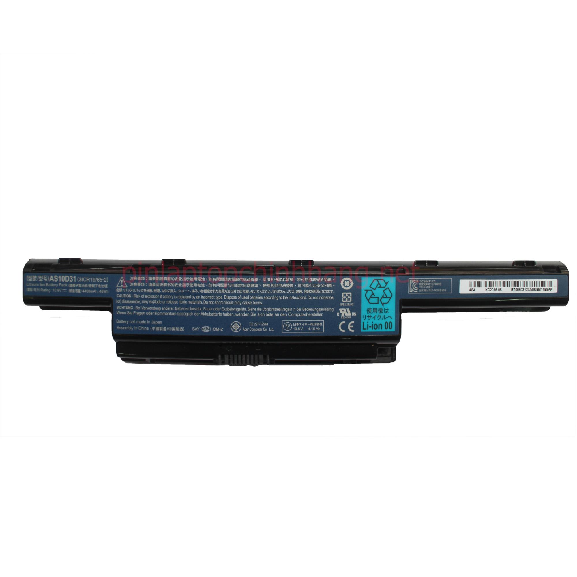 Battery (Pin ) Laptop Chính Hãng Acer  4741G 4743G 4752G 5750G 4755G 4750G  AS10D31