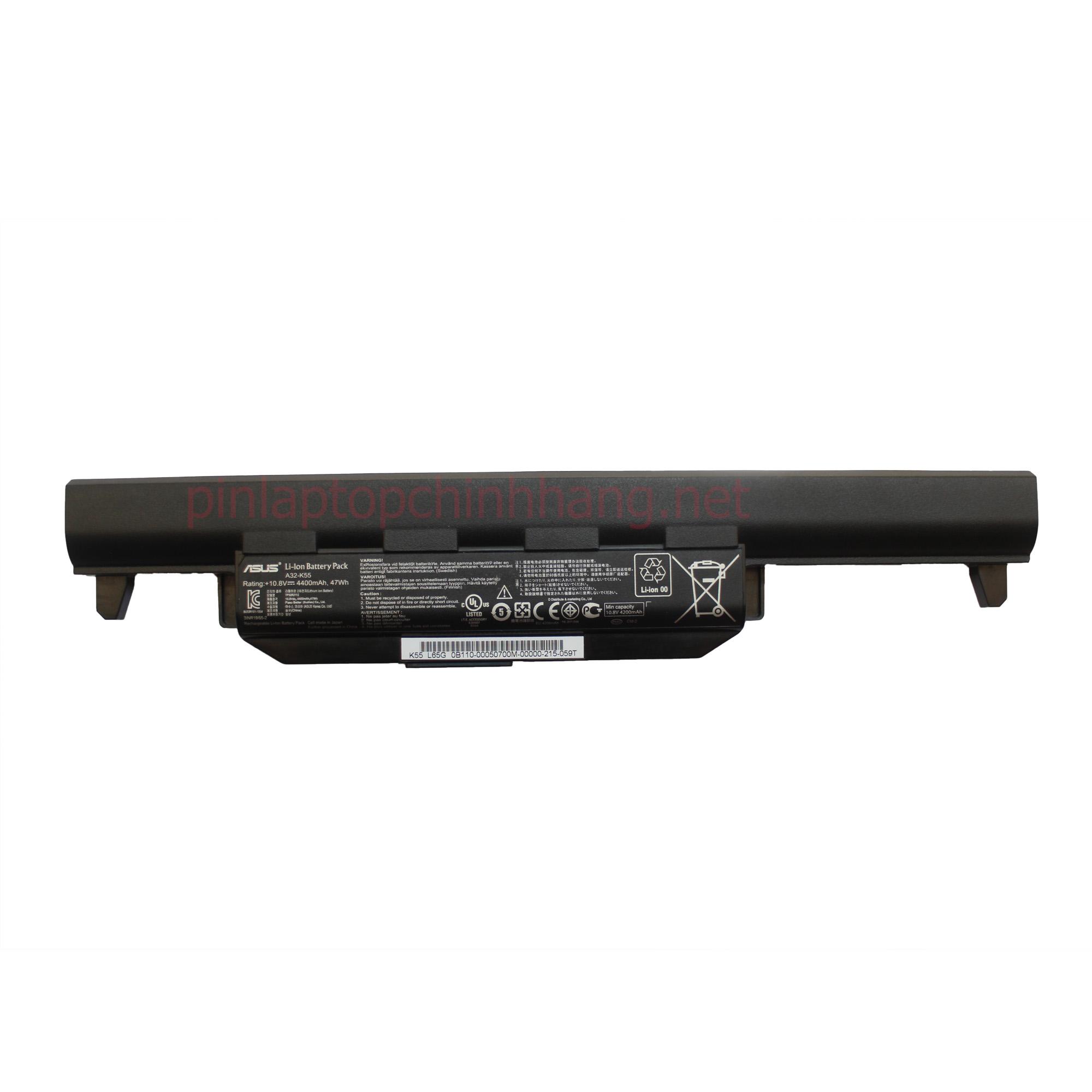 Battery (Pin) laptop chính hãng ASUS A45 A55 A75 K45 K55 K55A K55D K55DE K55DR K55N K75 A32-K55 A32-K55X
