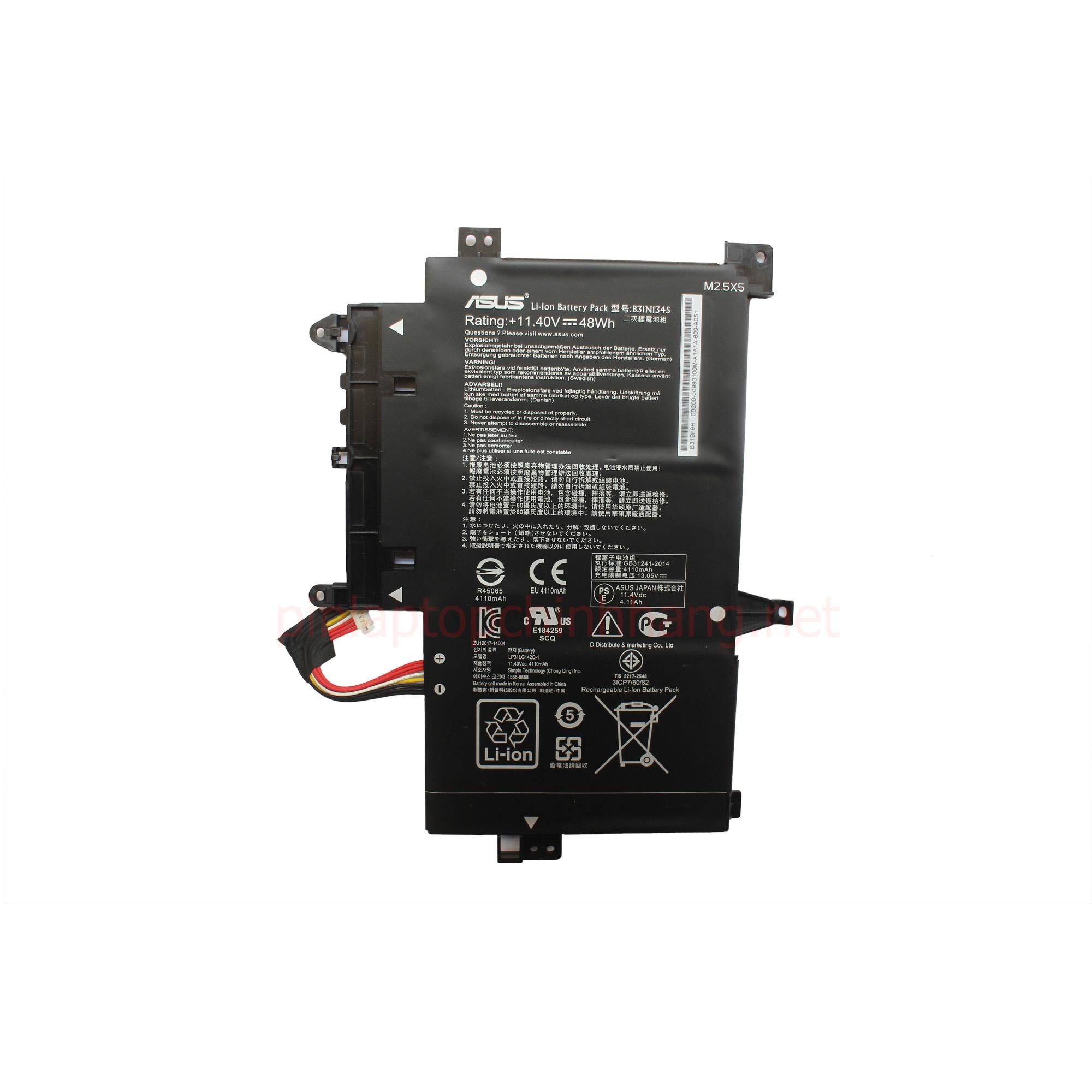 Battery Pin Laptop Chính Hãng Asus TP500 TP500L TP500LA TP500LN TP500LB B31N1345