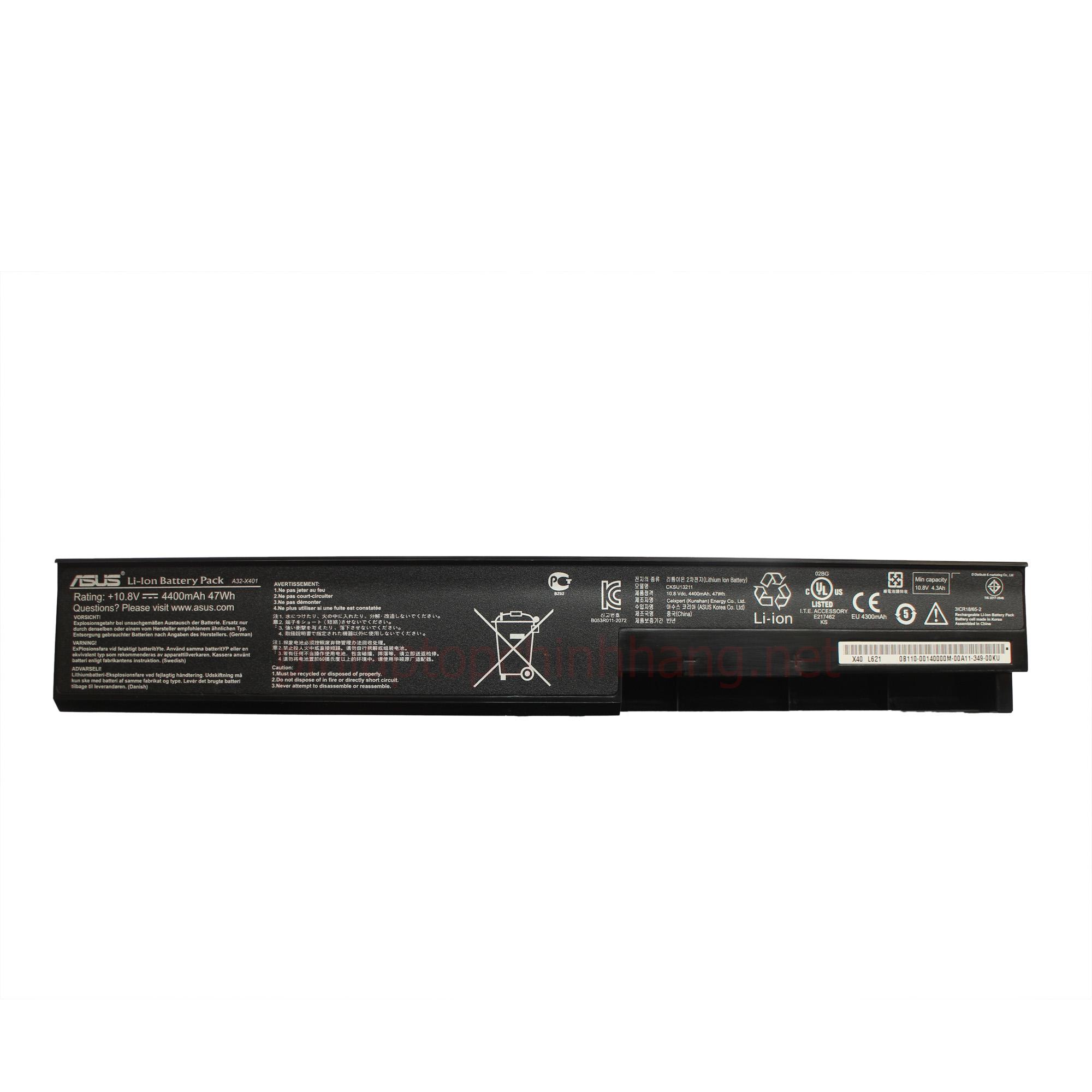 Pin / Battery Laptop Chính hãng Asus A32-X401 X401A X401U, A31-X401 A41-X401 A42-X401, F301 F401 F501 S301 S401 S501 X301 X401 X501