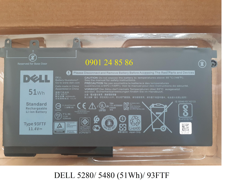 Pin/Battery Laptop Chính Hãng Dell Original Latitude  5280/ 5290/ 5480/ 5490/ 5580/ Precision 15 3520/ 3530/ 083XPC/ 83XPC/ D4CMT (51WH-3Cell) 93FTF