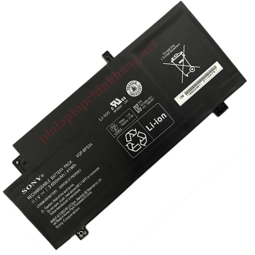 Pin Laptop chính hãng  Sony VAIO Fit 15 Touch SVF15A1ACXB SVF15A1ACXS SVF15A16CXB VGP-BPS34