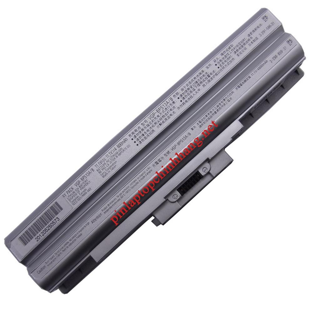 Pin laptop chính hãng Sony VGP-BPS13 VGN-AW19 VGN-CS190 VGN-FW11 VGN-FW19 VGN-FW15T VGN-SR39D VGN-SR45H VPC-Y11AFJ VGN-AW11M/H VGN-AW11S/B VGN-AW11XU/Q VGN-AW11Z/B VGN-AW170C VGN-AW19/Q Silver