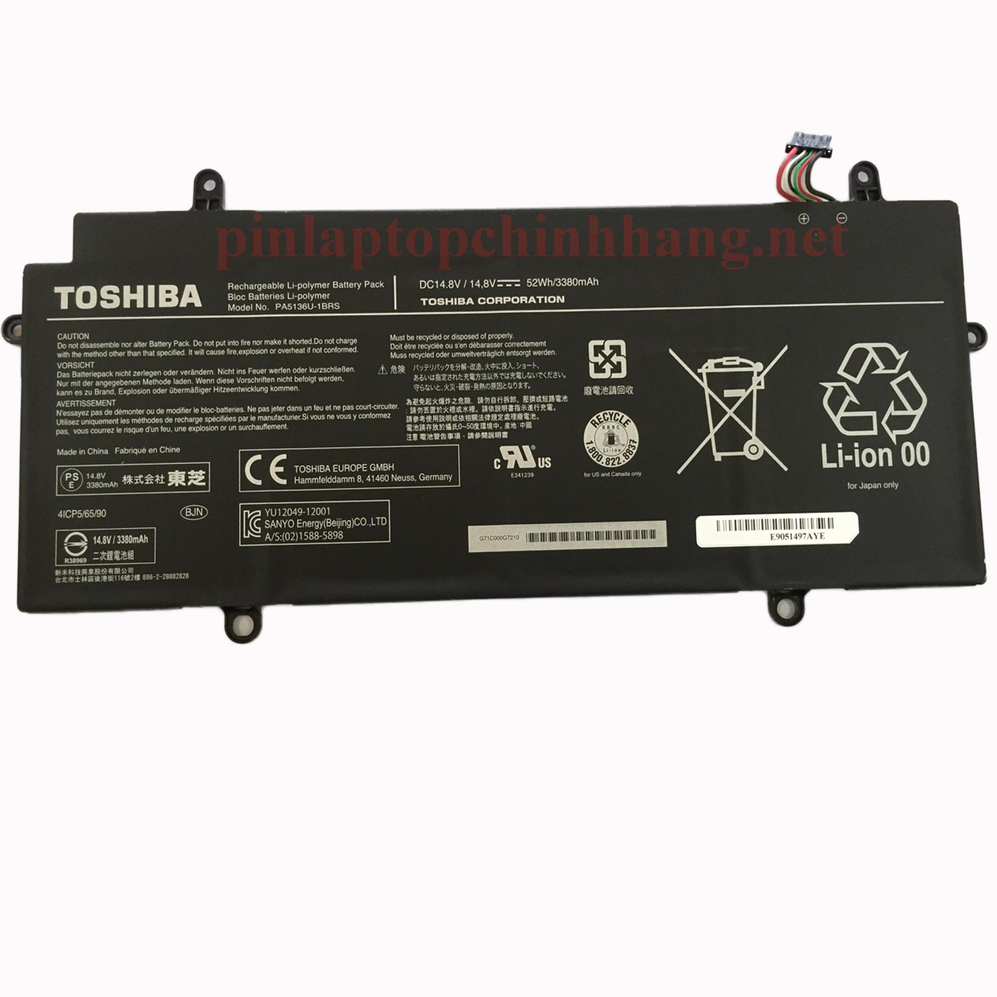 Pin Laptop Chính Hãng Toshiba Portege Z30 PT241A PT241C PT241U PT243A PA5136U-1BRS